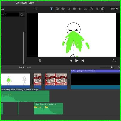 Spew video image